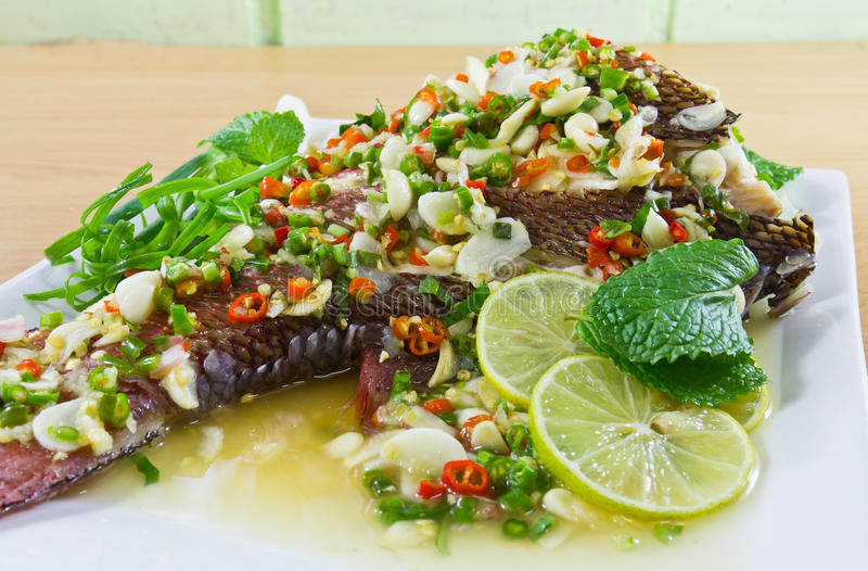 Download Spicy steamed fish stock photo. Image of cuisine, diet - 20503824