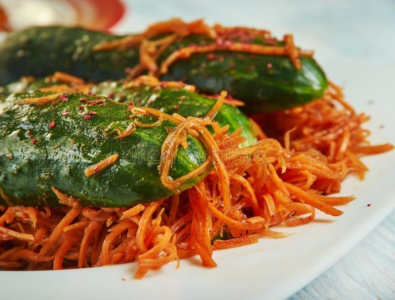 Korean Cucumber Kimchi Recipe - Stuffed & Fermented for a
