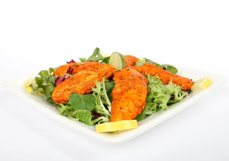 A spicy summer starter, lemon chicken salad
