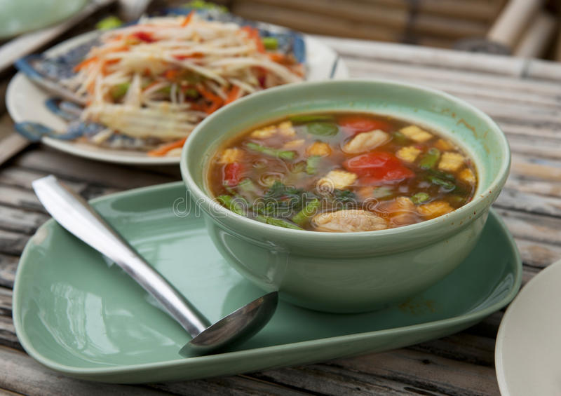Spicy Thailand Soup Royalty Free Stock Image