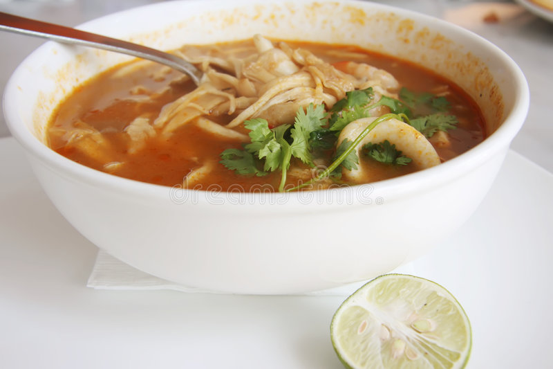 Spicy thomyam soup royalty free illustration