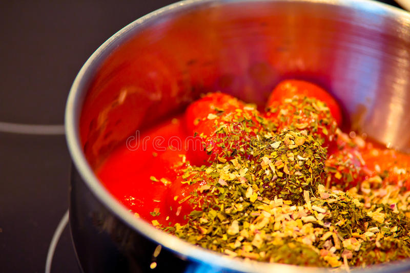 Download Spicy Tomato Sauce In The Making Stock Image - Image: 23243313