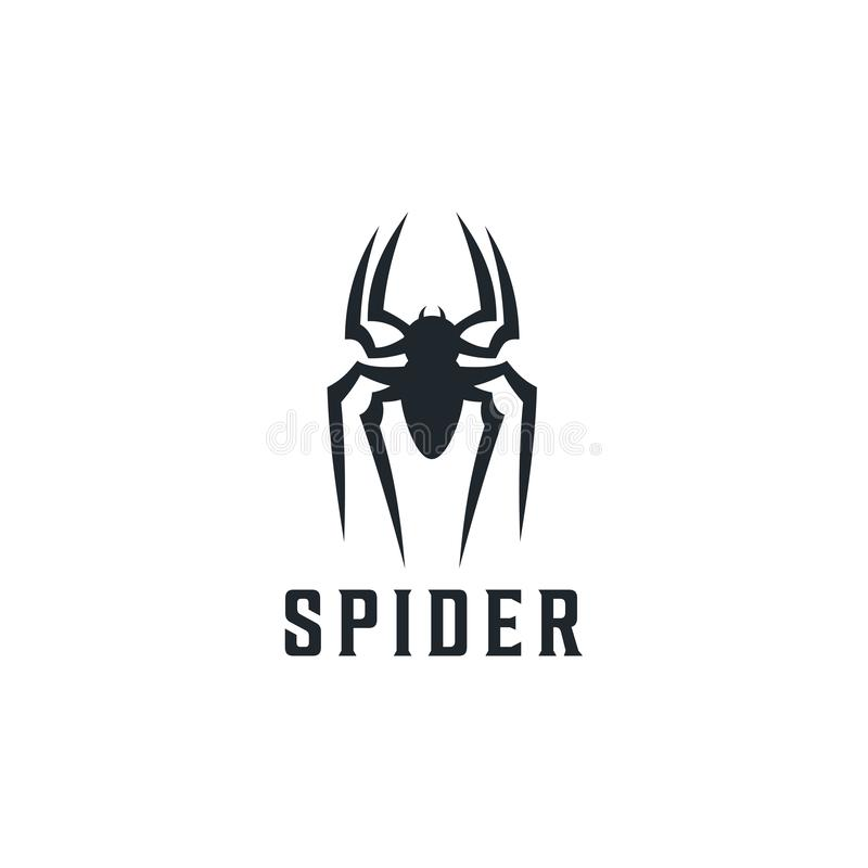 Spider Badge logo design inspiration Illustration stock illustration