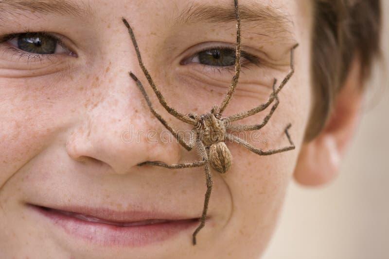 Download Spider Boy 2 stock image. Image of creepy, rain, smiling - 7654135