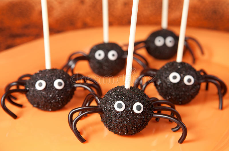 Download Spider cake pops stock image. Image of size, icing, chocolate - 26811603