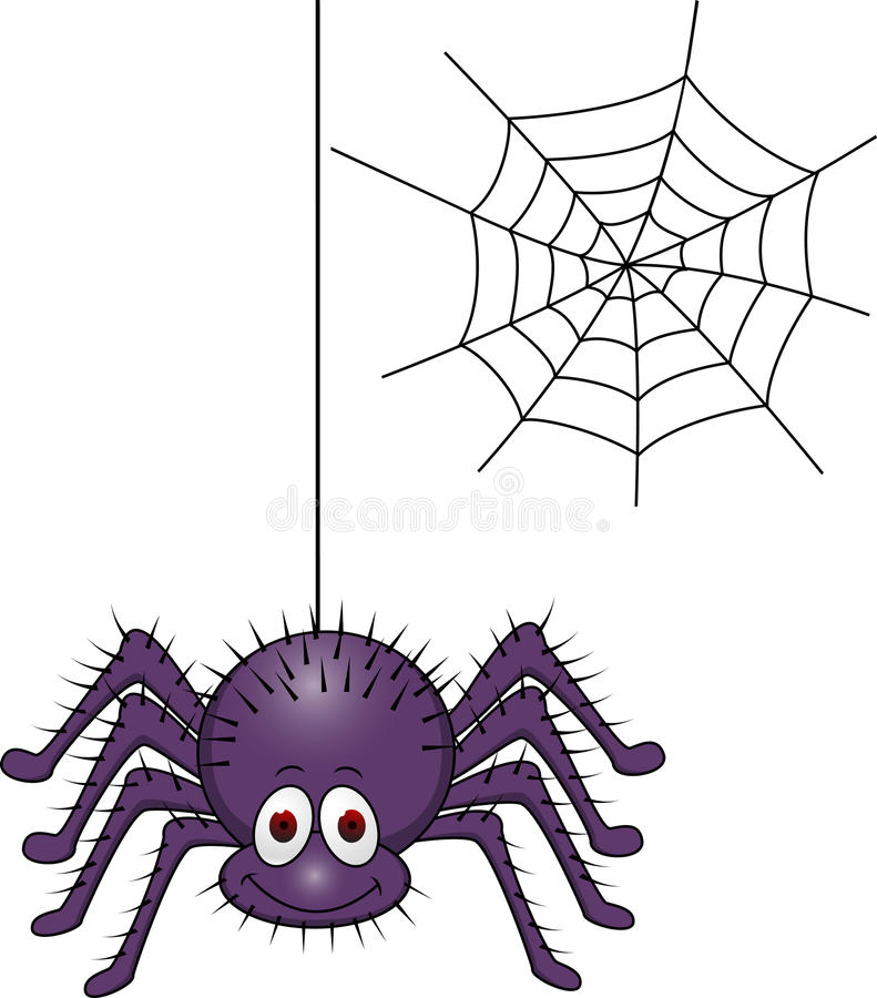 Download Spider cartoon stock vector. Image of arachnid, collection - 23691558