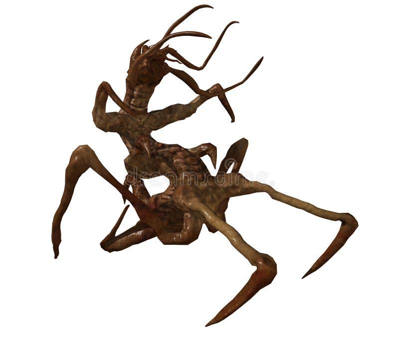 Download Spider creature stock illustration. Image of spider, half - 16178524