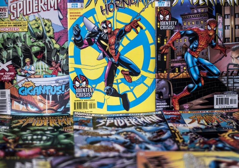 Spider-Man cudu komiczek bohater obraz royalty free