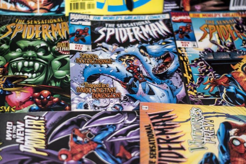 Spider-Man cudu komiczek bohater fotografia stock