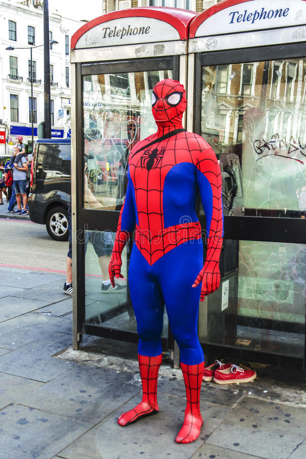 Spider-Man in London royalty free stock photo