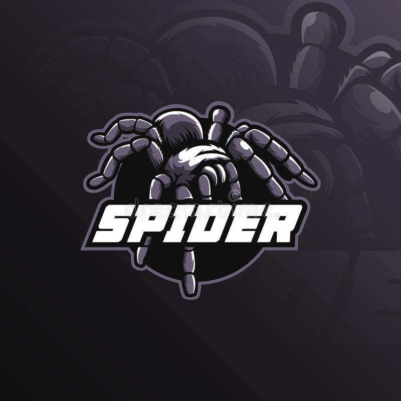 Spider mascot logo design vector with modern illustration concept style for badge, emblem and t shirt printing. spider royalty free illustration