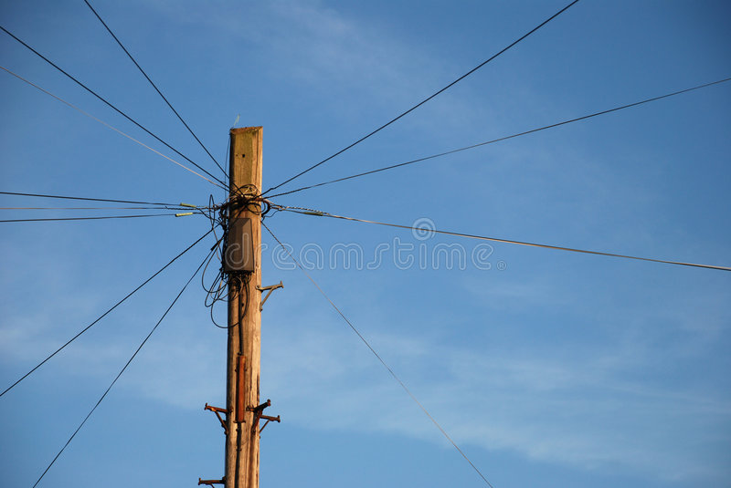 Spider pole stock photo. Image of wires, cable, pole, wooden - 2336672