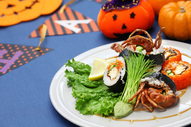 Spider roll sushi stock photos