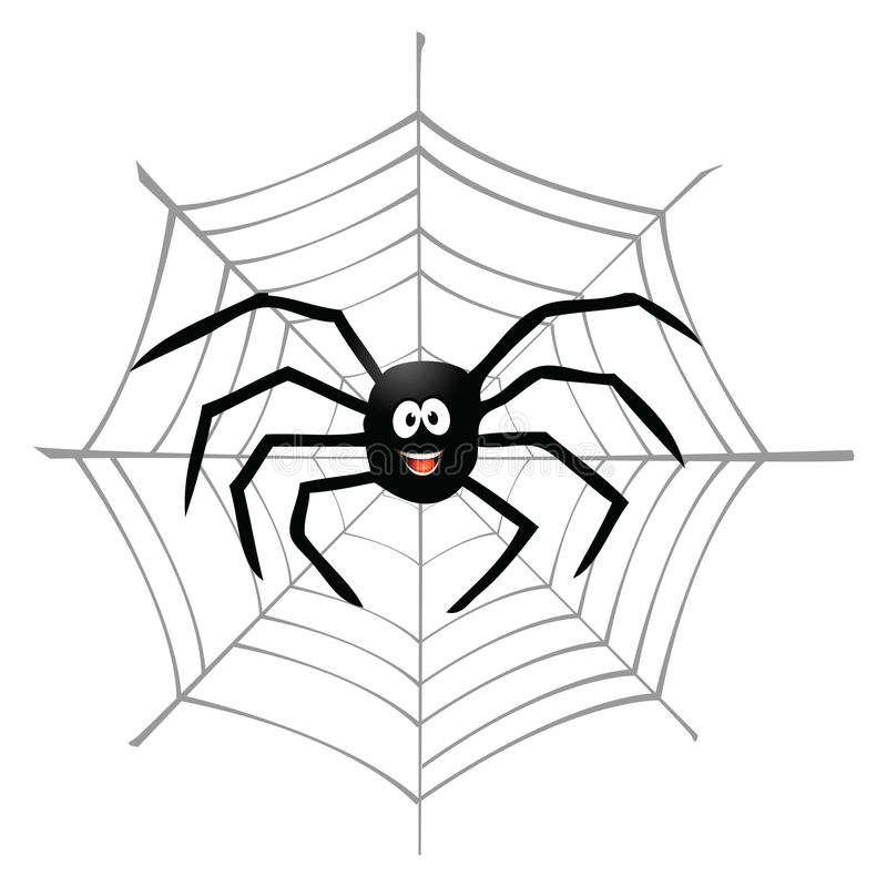 Download Spider and spiderweb stock vector. Illustration of spun - 25675381