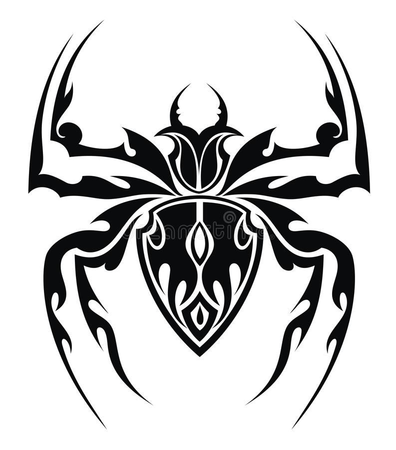 Tattoo Designs Download: Spider Tattoo Stock Vector. Illustration Of White, Cross