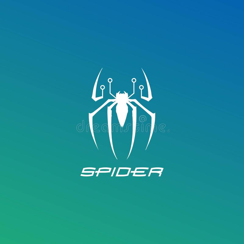 Spider technology logo. Design vector, abstract, art, background, banner, business, circle, collection, color, colorful, company, concept, corporate, creative royalty free illustration