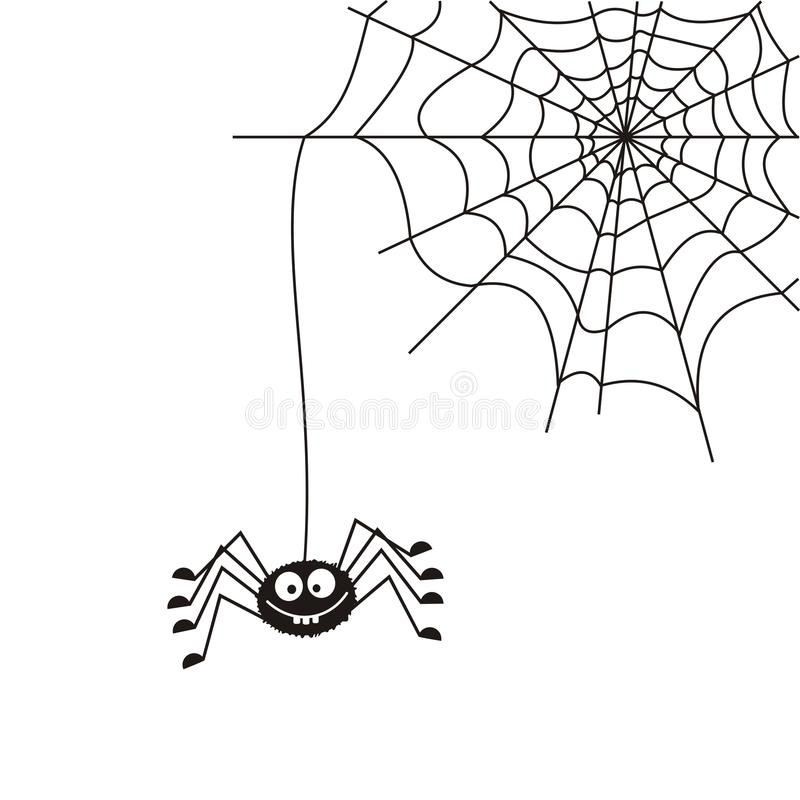 Download Spider on the web stock vector. Image of symbol, white - 26464944