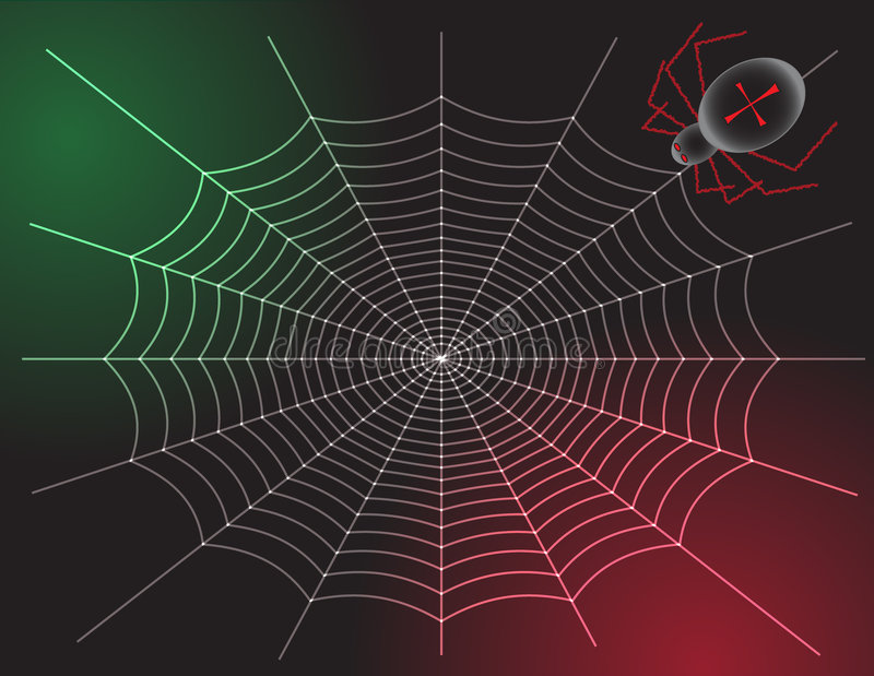 Download Spider and Web stock vector. Image of halloween, fear - 6359344