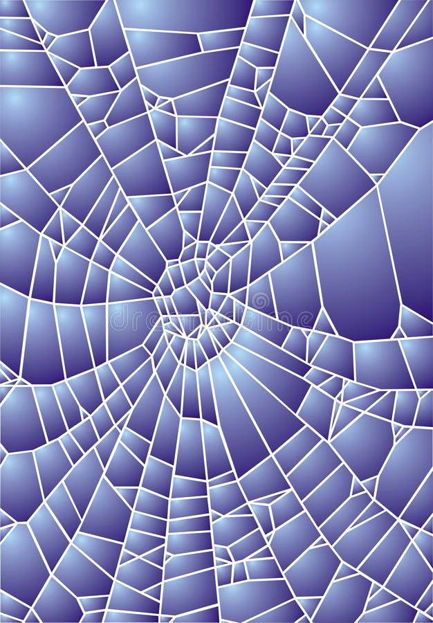 Spider web or hole in the glass vector illustration