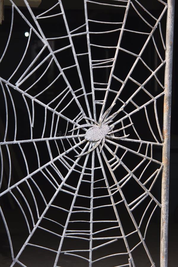 Spider Web & Spider Web stock image. Image of door boss iron spider - 36013475