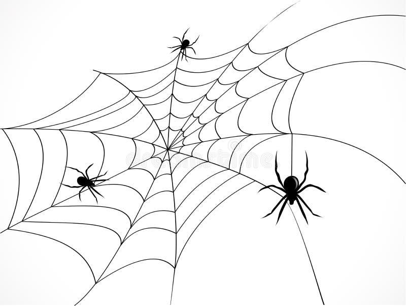 Spider web stock illustration