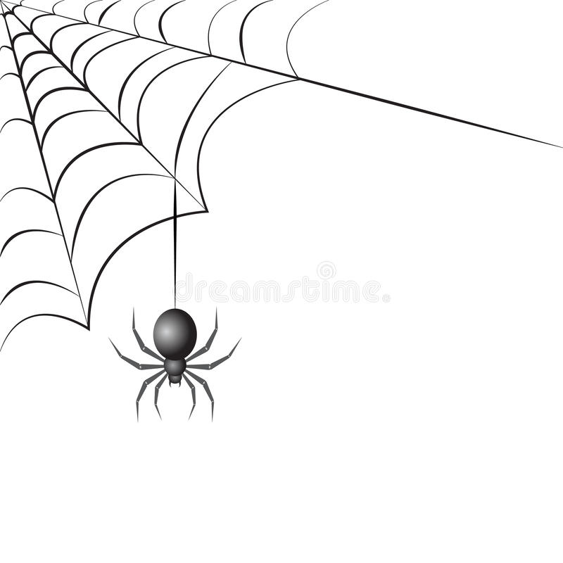 Spider with web vector illustration stock royalty free illustration