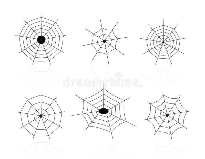 Spider Webs. Isolated spider webs illustration. vector format available stock illustration