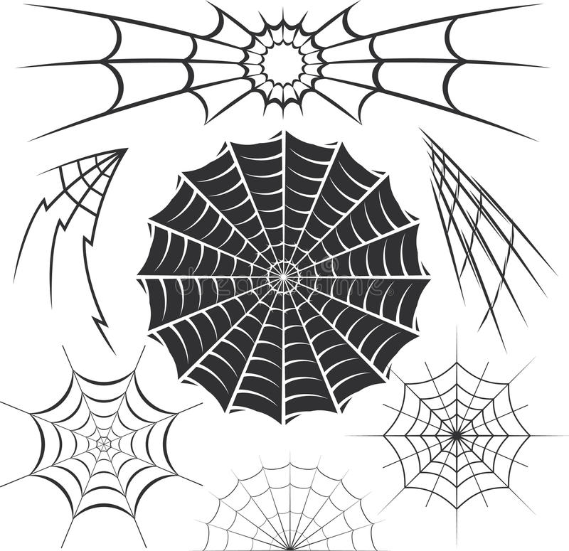 Spider Webs stock vector. Illustration of elements ... Vector Spider Web Design