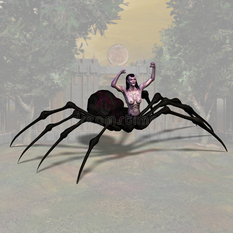 Spider Woman #01 stock illustration