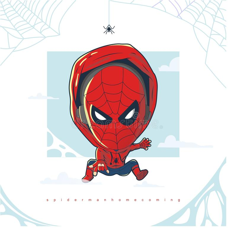 Free Spiderman Homecoming Vector Royalty Free Stock Image - 137577156