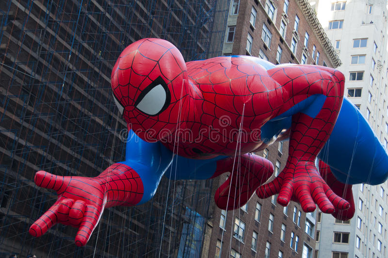 Spidermanballong royaltyfria foton