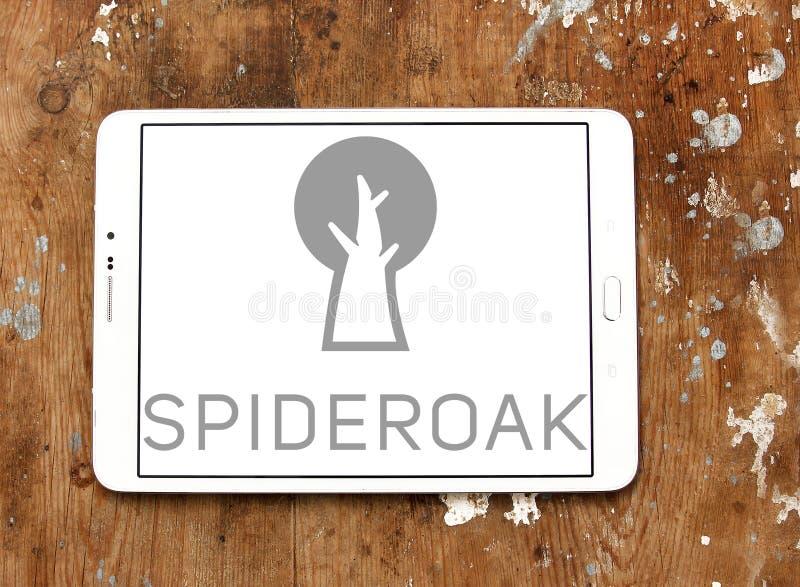 SpiderOak firmy logo fotografia stock