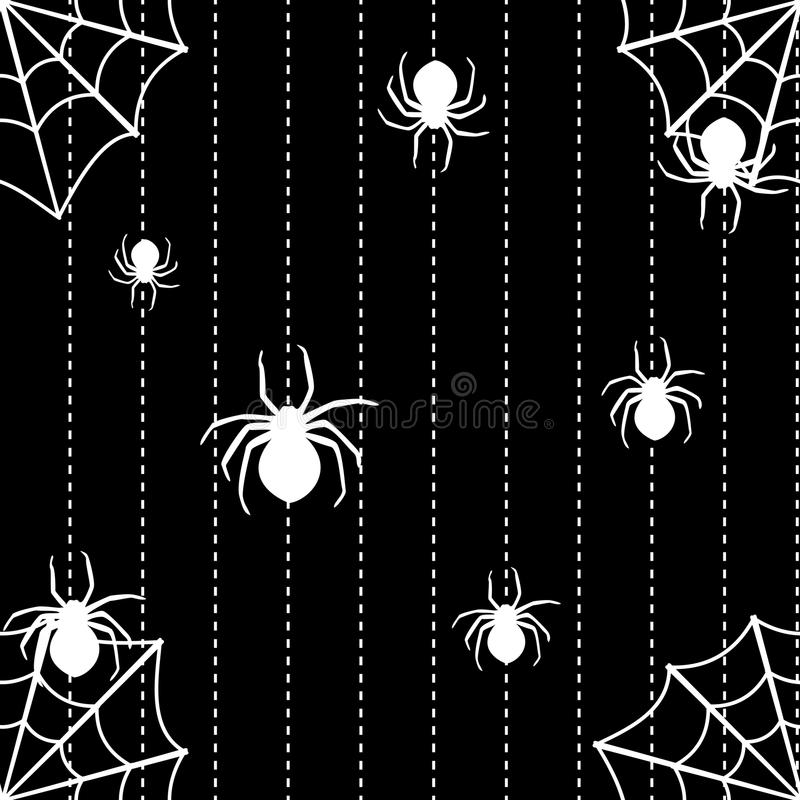 Spiders And Web Seamless Background Royalty Free Stock Images