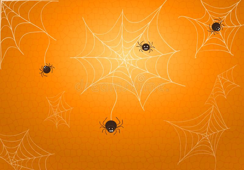 Spiders and web vector illustration