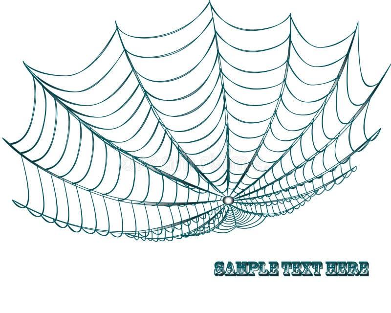 Spiderweb ilustração stock