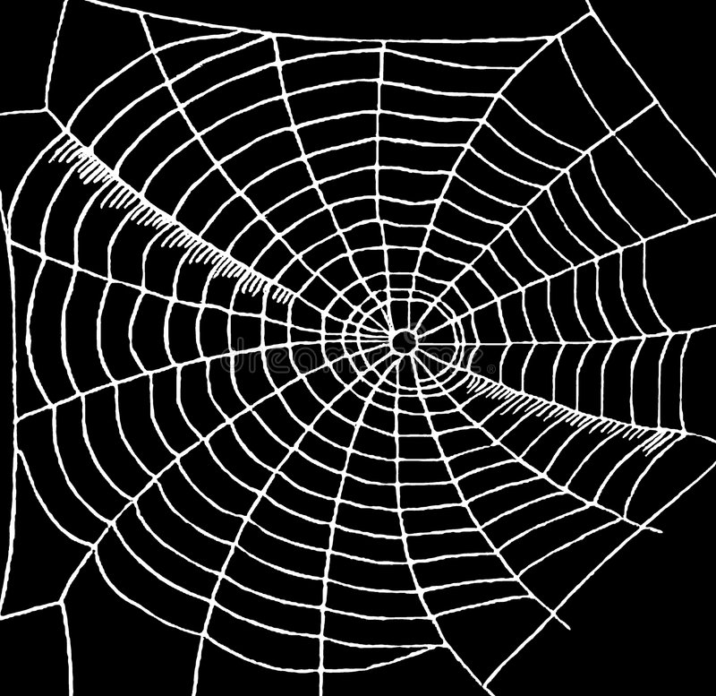 spiderweb vektor illustrationer
