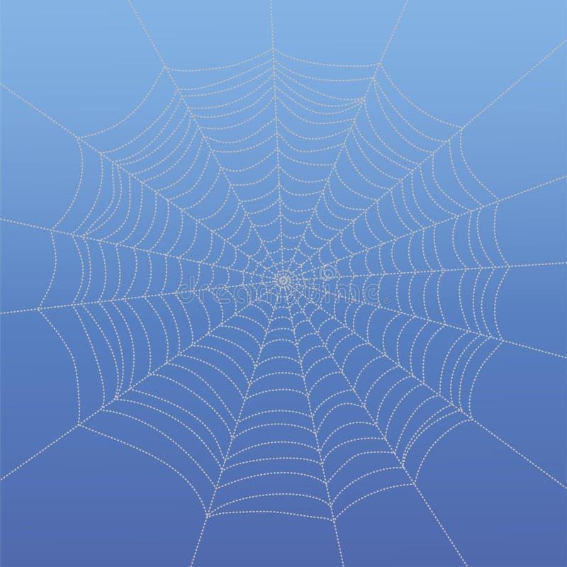 Spiderweb de dibujo abstracto stock de ilustración