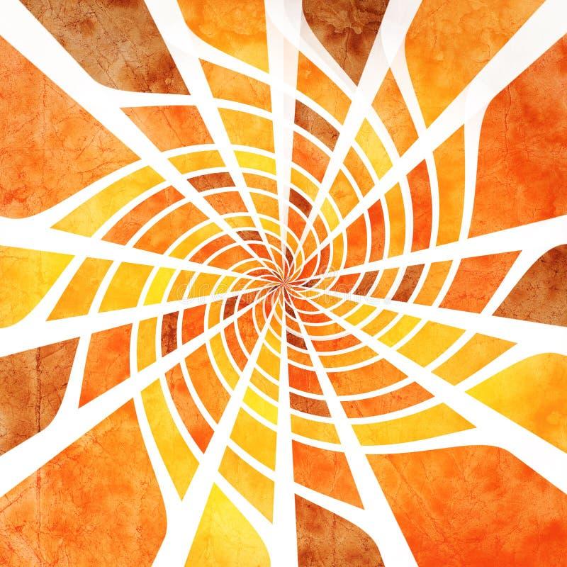 Spiderweb de Grunge ilustração royalty free