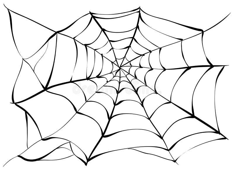 spiderweb Duża czarna pająk sieć royalty ilustracja