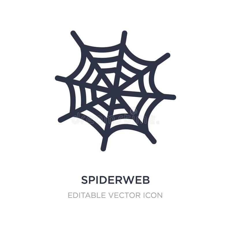 spiderweb ikona na białym tle Prosta element ilustracja od Ogólnego pojęcia royalty ilustracja