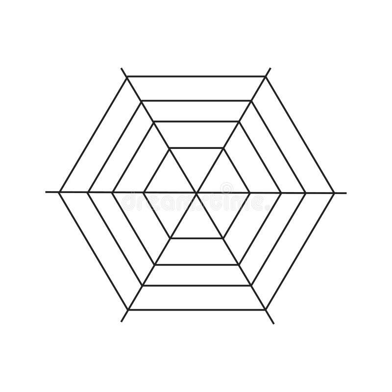 Spiderweb ikona, prosty styl ilustracji