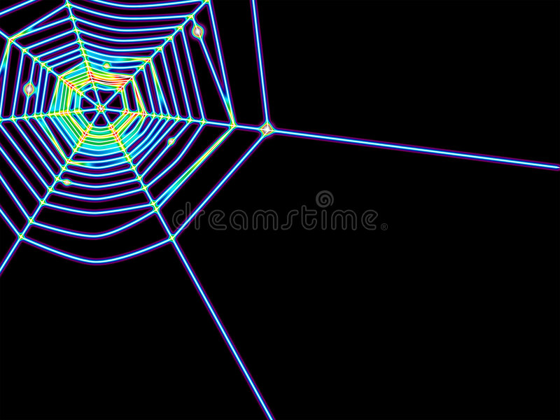 Spiderweb incandesce ilustração royalty free