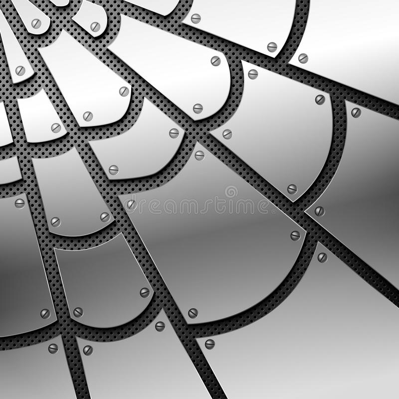 Spiderweb metálico ilustração royalty free