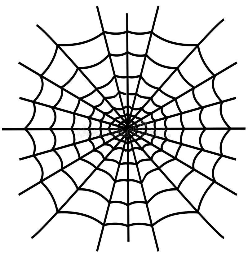 Spiderweb negro aislado stock de ilustración