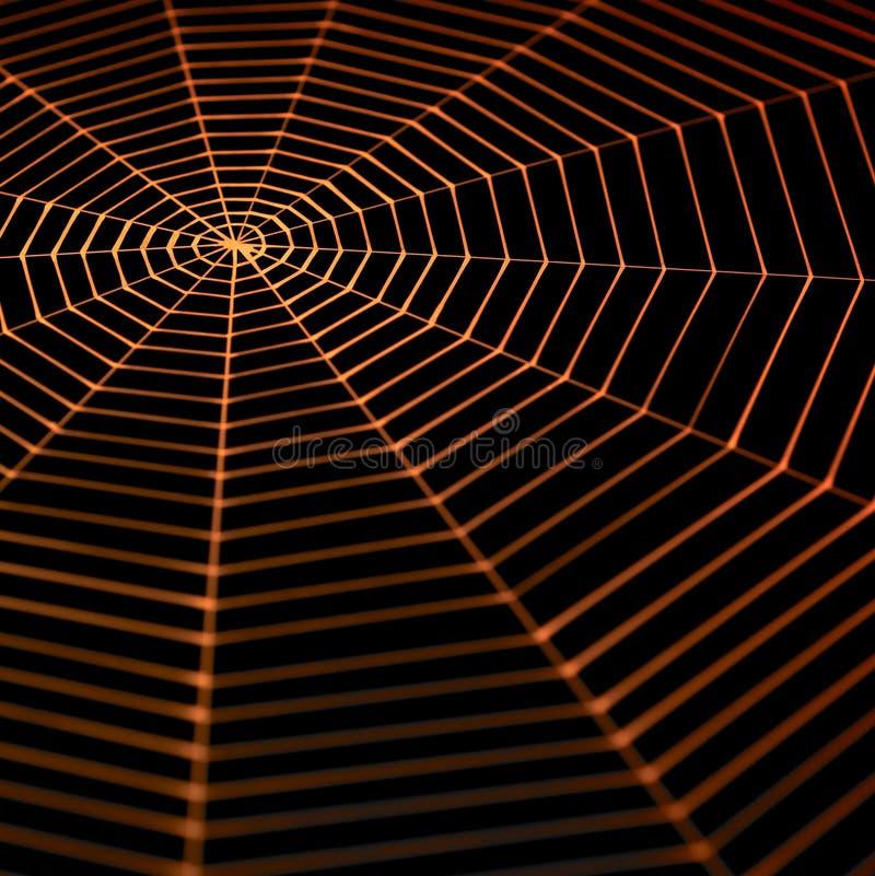 Spiderweb pintado ilustração stock