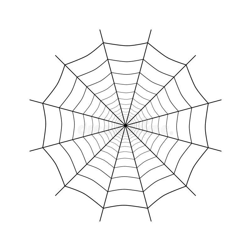 Spiderweb simples no branco ilustração stock