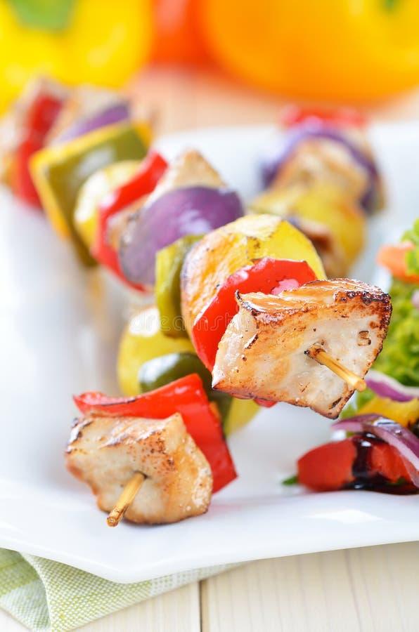 Spiedi del kebab di Shish fotografia stock libera da diritti