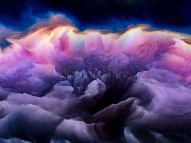 Spiegamento di Cloudscape illustrazione di stock