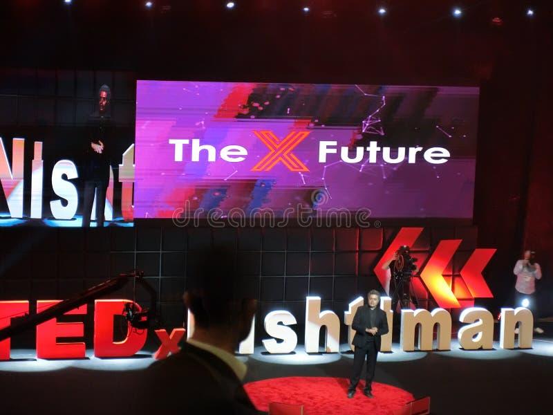Spiegazione Di Tedx Talk Host fotografie stock