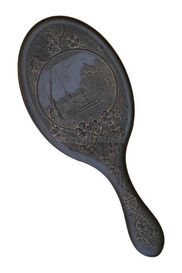 Spiegel des 19. Jahrhunderts Hand, derRückseite zeigt. lizenzfreies stockfoto